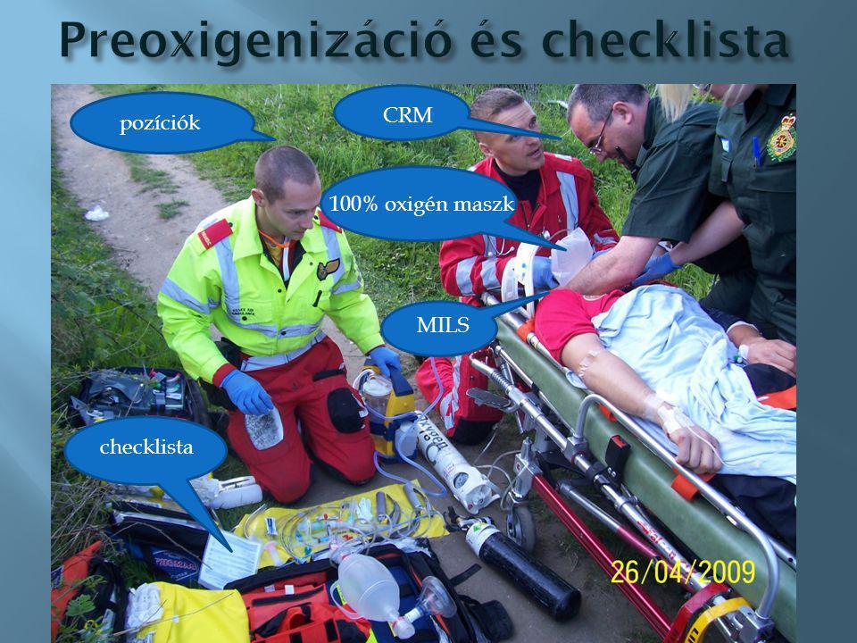 Preoxigenizáció és checklista