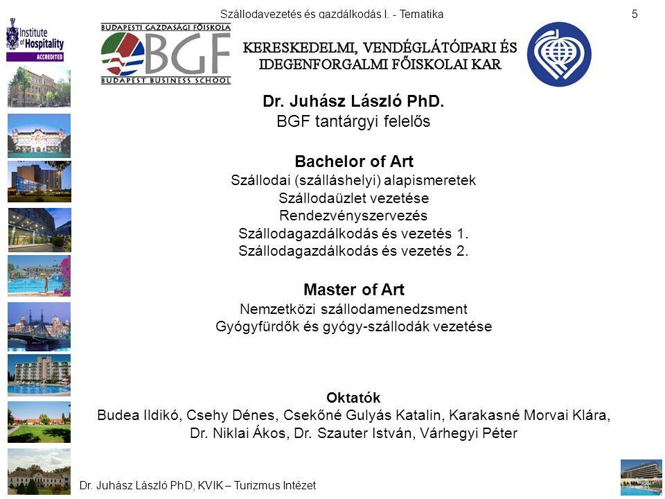 Dr. Juhász László PhD. Bachelor of Art Master of Art