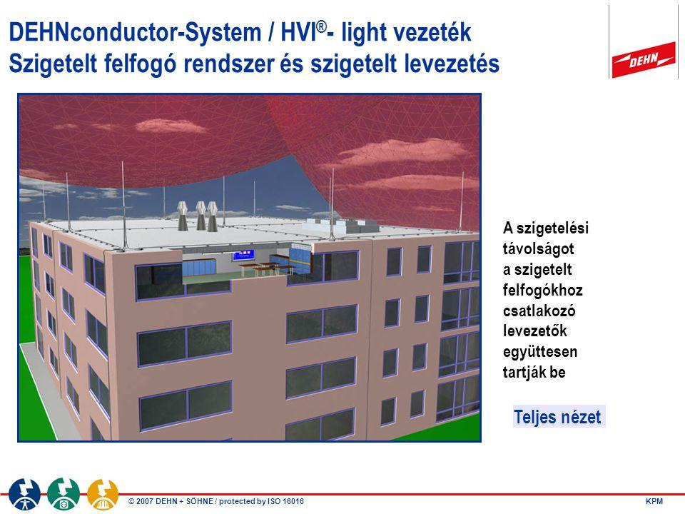 DEHNconductor-System / HVI®- light vezeték Szigetelt felfogó rendszer és szigetelt levezetés