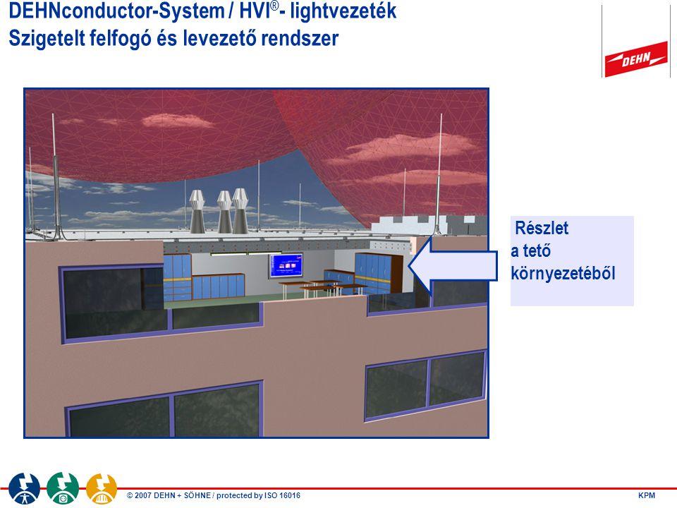 DEHNconductor-System / HVI®- lightvezeték Szigetelt felfogó és levezető rendszer