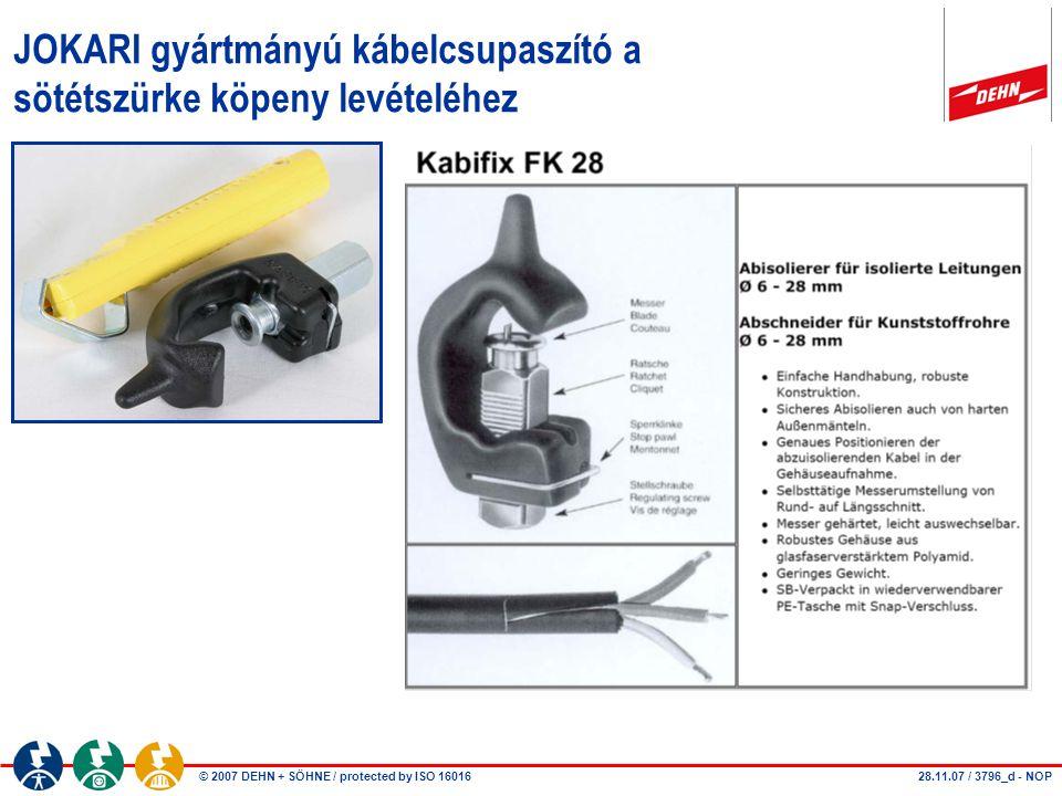 JOKARI gyártmányú kábelcsupaszító a sötétszürke köpeny levételéhez