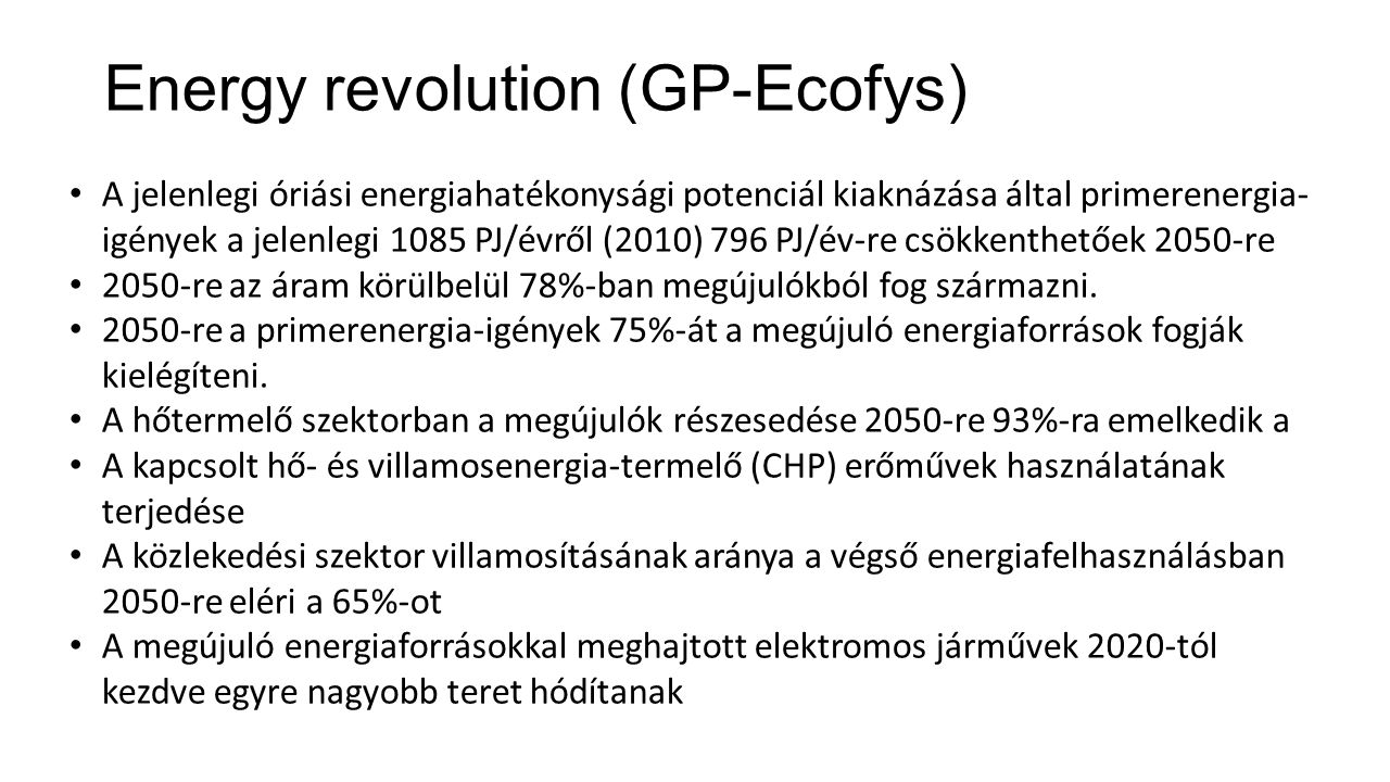 Energy revolution (GP-Ecofys)