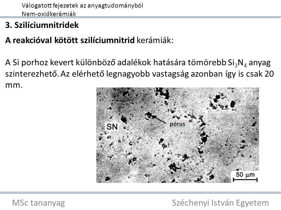 Válogatott fejezetek az anyagtudományból Nem-oxidkerámiák