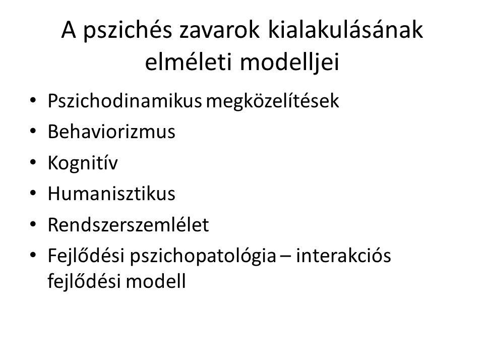 A pszichés zavarok kialakulásának elméleti modelljei