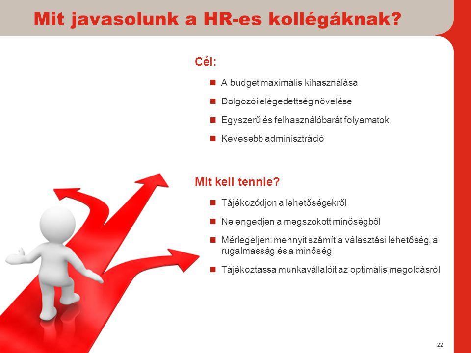 Mit javasolunk a HR-es kollégáknak