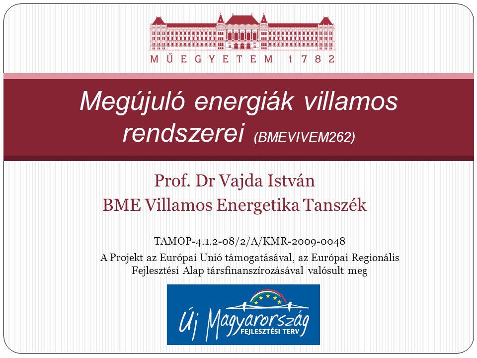 Megújuló energiák villamos rendszerei (BMEVIVEM262)