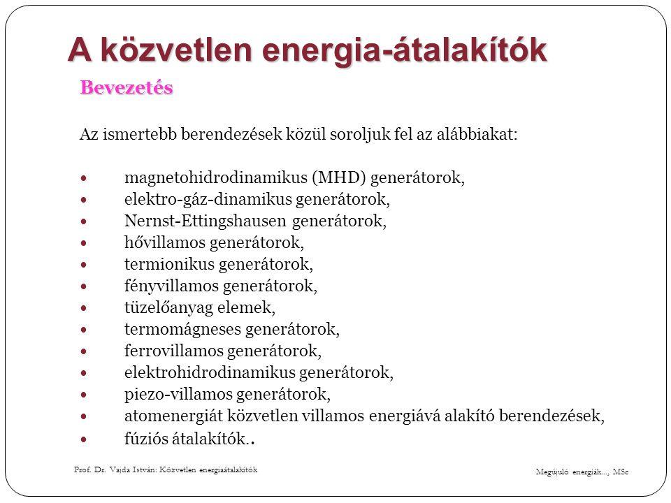A közvetlen energia-átalakítók