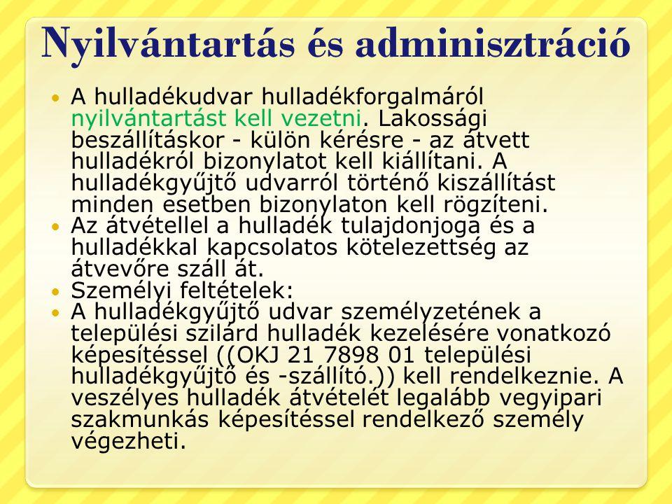 Nyilvántartás és adminisztráció