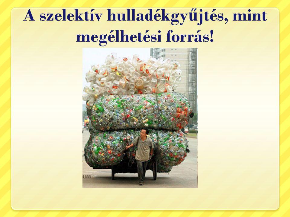 A szelektív hulladékgyűjtés, mint megélhetési forrás!