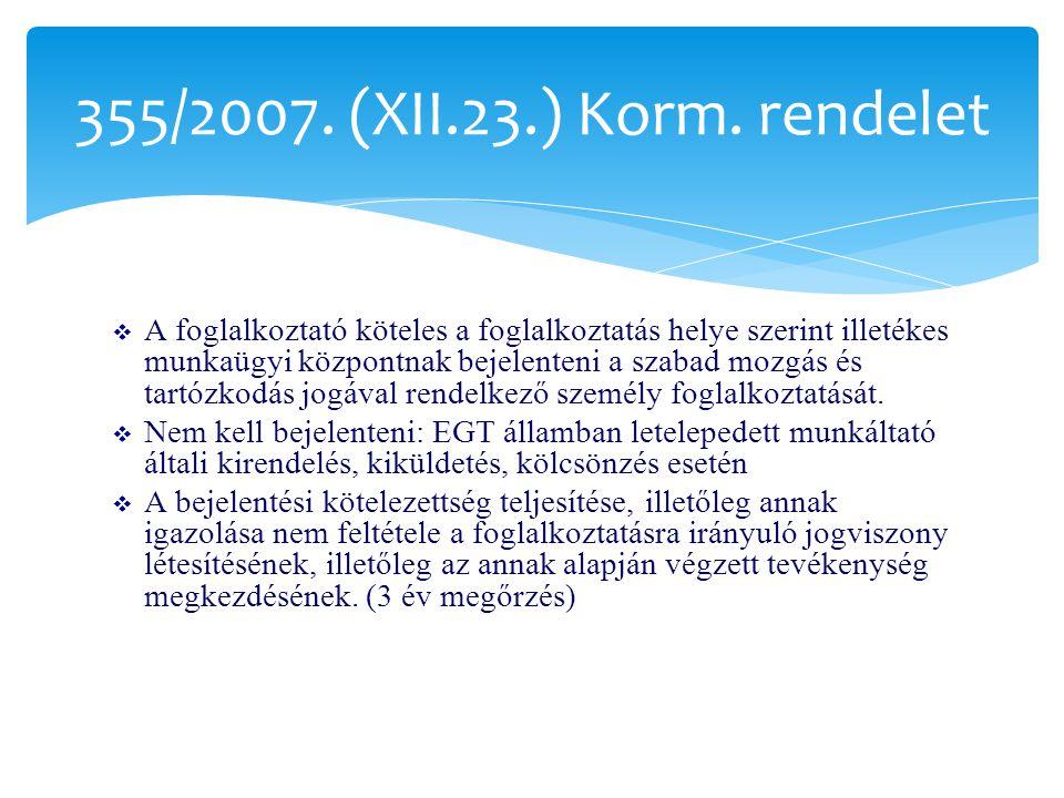 355/2007. (XII.23.) Korm. rendelet