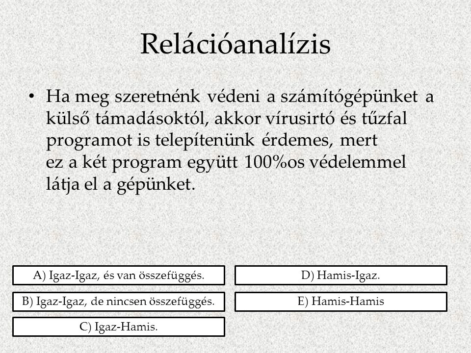 Relációanalízis