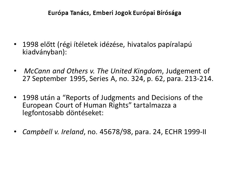 Európa Tanács, Emberi Jogok Európai Bírósága