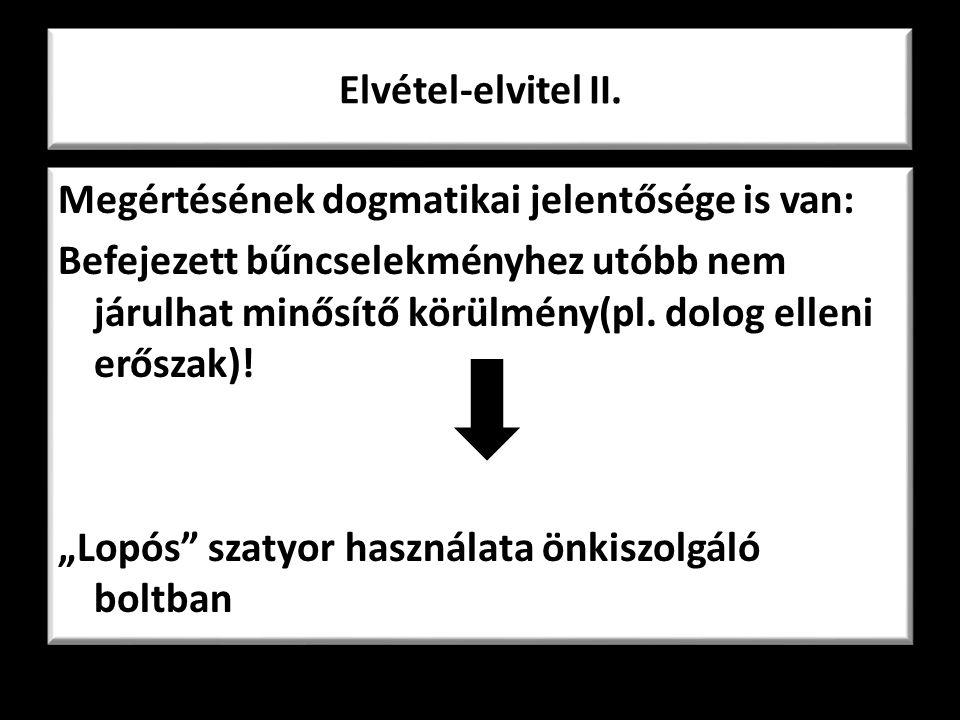 Elvétel-elvitel II.