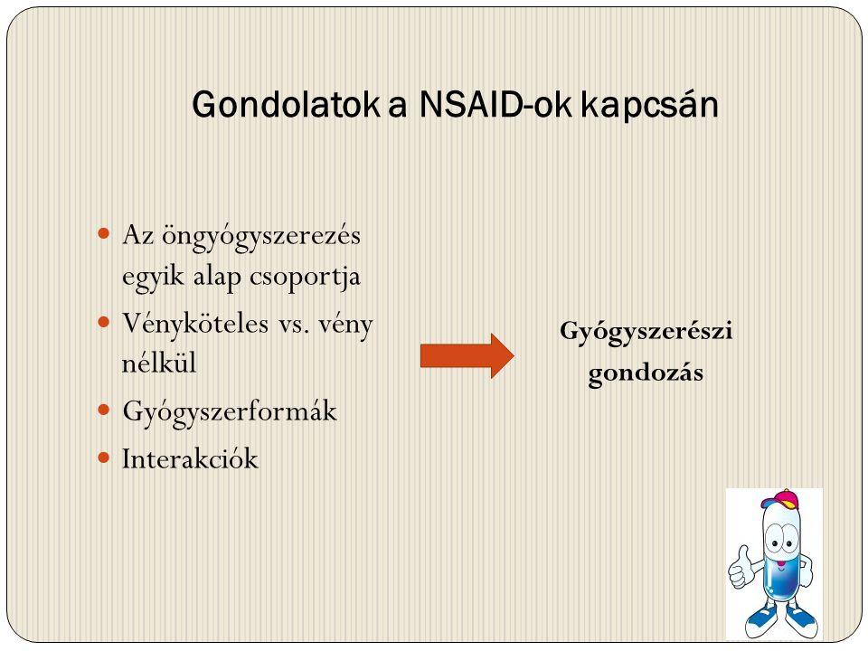 Gondolatok a NSAID-ok kapcsán