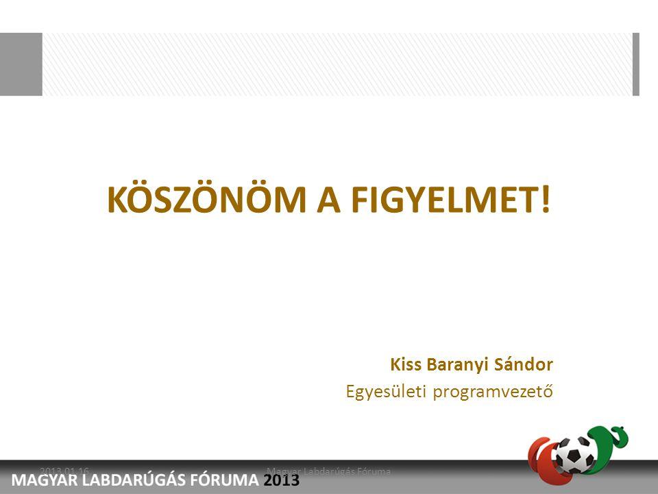 Kiss Baranyi Sándor Egyesületi programvezető