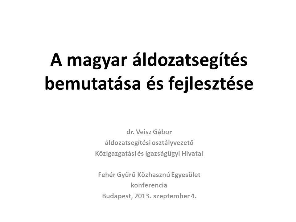 A magyar áldozatsegítés bemutatása és fejlesztése