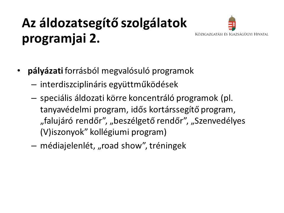 Az áldozatsegítő szolgálatok programjai 2.
