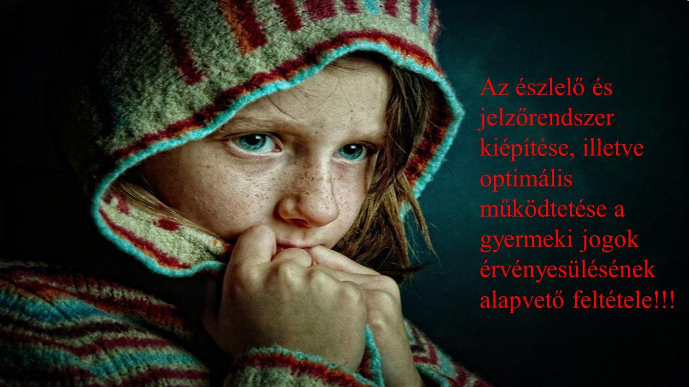 Az észlelő és jelzőrendszer kiépítése, illetve optimális működtetése a gyermeki jogok érvényesülésének alapvető feltétele!!!