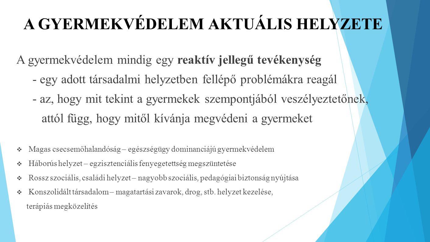 A GYERMEKVÉDELEM AKTUÁLIS HELYZETE