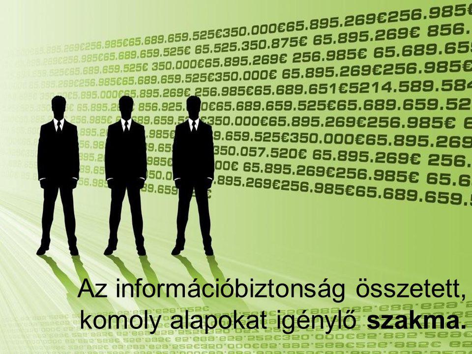 Az információbiztonság összetett, komoly alapokat igénylő szakma.