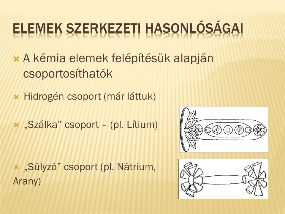 Elemek Szerkezeti hasonlóságai