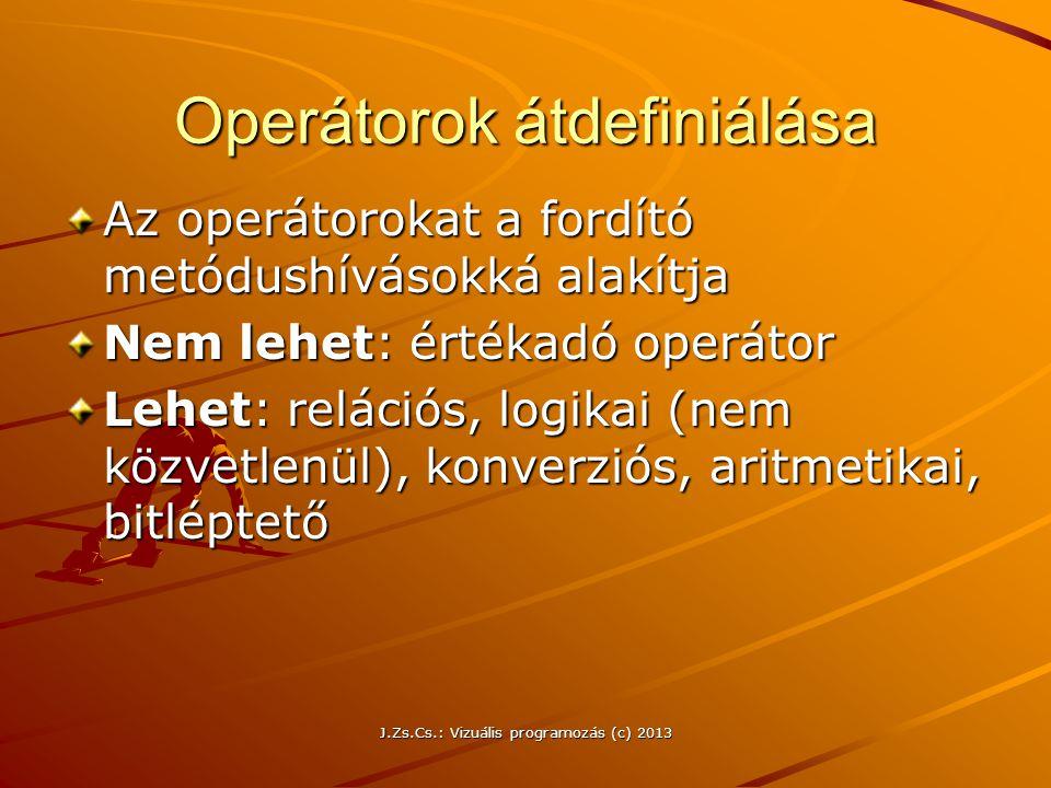 Operátorok átdefiniálása
