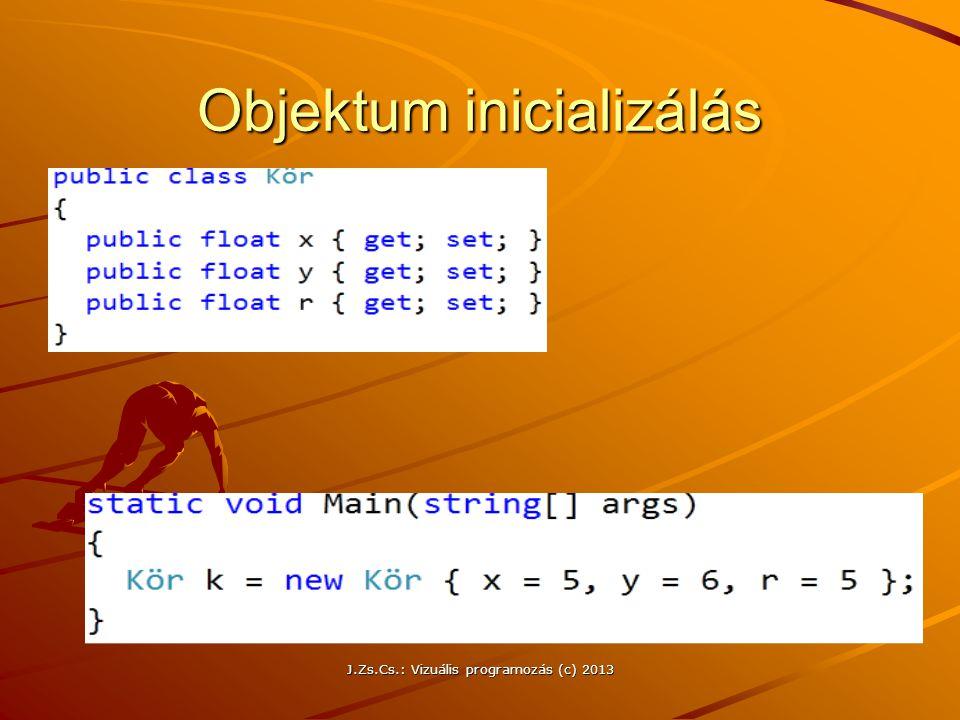 Objektum inicializálás