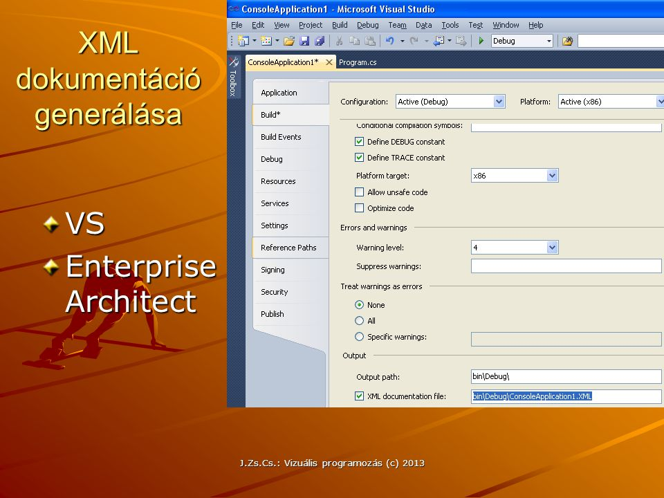 XML dokumentáció generálása