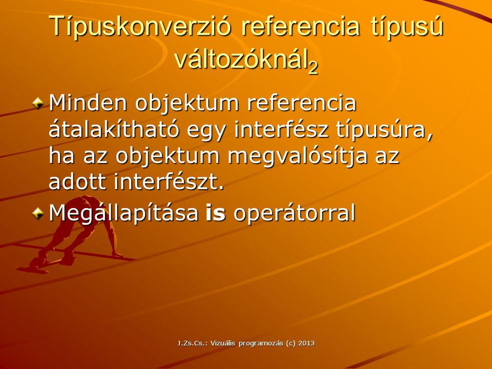 Típuskonverzió referencia típusú változóknál2