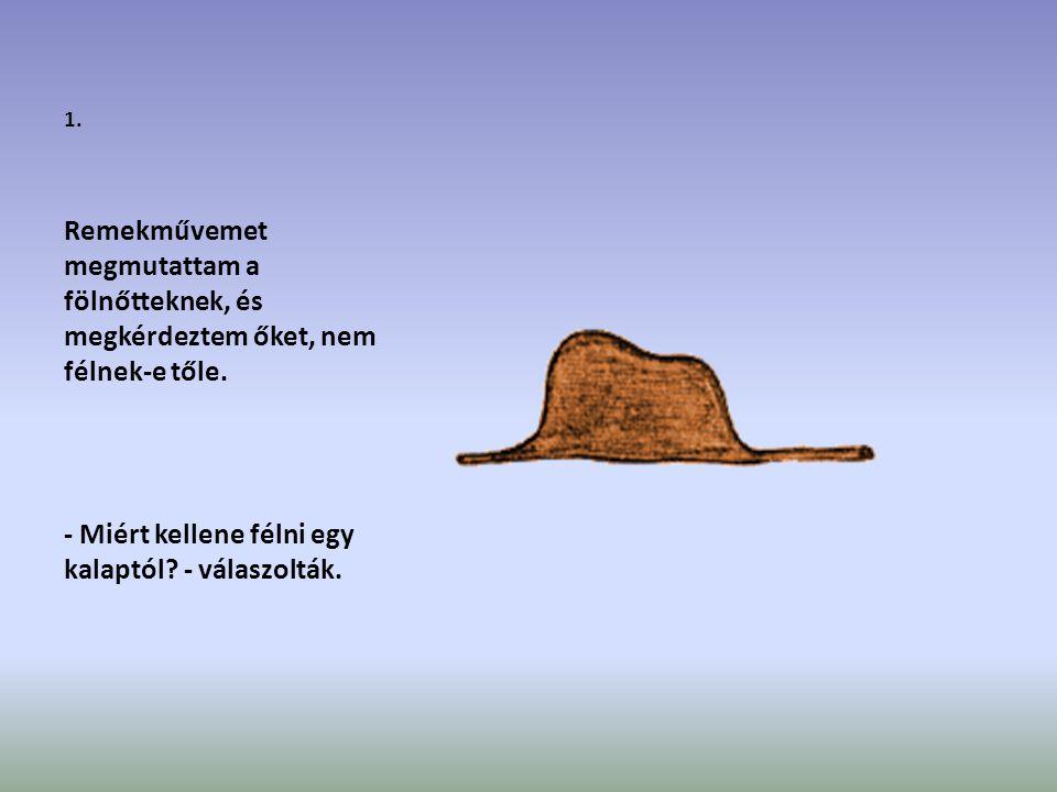 - Miért kellene félni egy kalaptól - válaszolták.