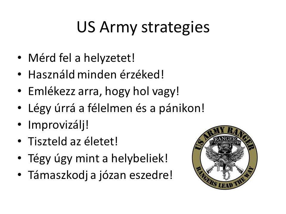 US Army strategies Mérd fel a helyzetet! Használd minden érzéked!
