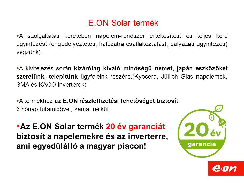 E.ON Solar termék