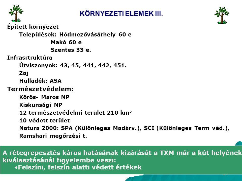 KÖRNYEZETI ELEMEK III. Természetvédelem: