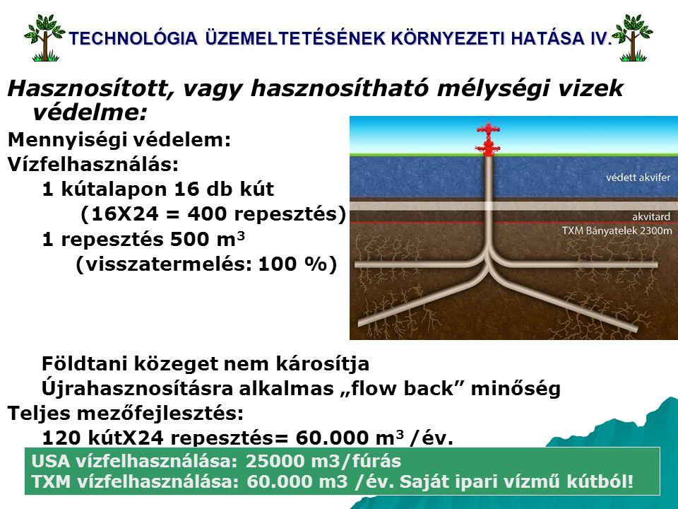 TECHNOLÓGIA ÜZEMELTETÉSÉNEK KÖRNYEZETI HATÁSA IV.