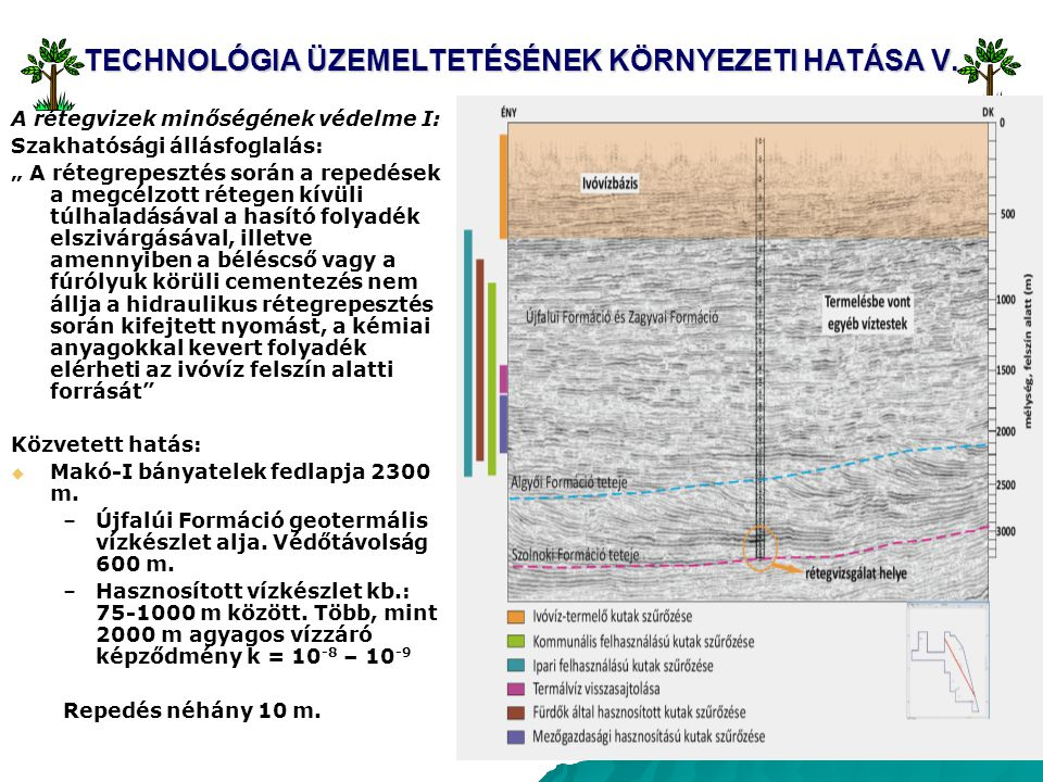 TECHNOLÓGIA ÜZEMELTETÉSÉNEK KÖRNYEZETI HATÁSA V.