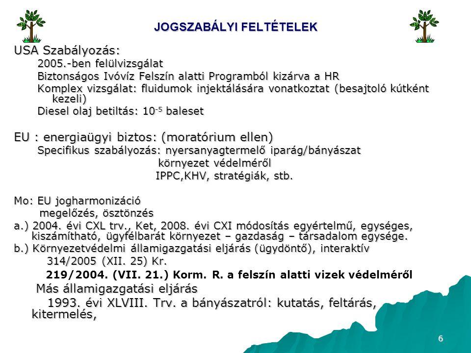 JOGSZABÁLYI FELTÉTELEK