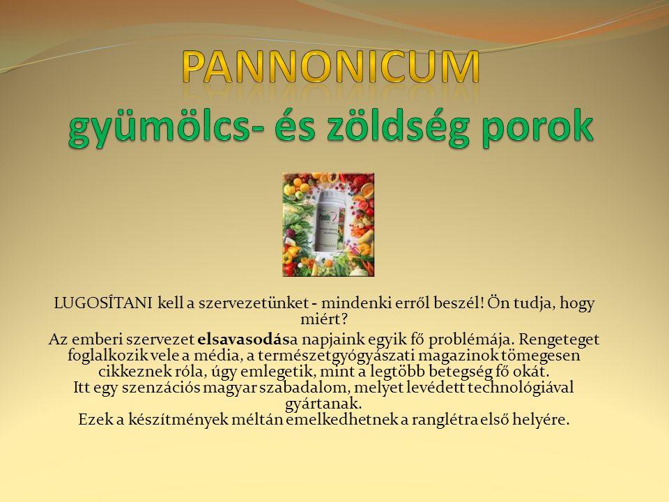Pannonicum gyümölcs- és zöldség porok