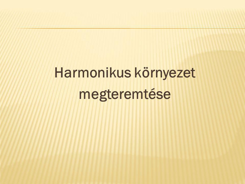Harmonikus környezet megteremtése