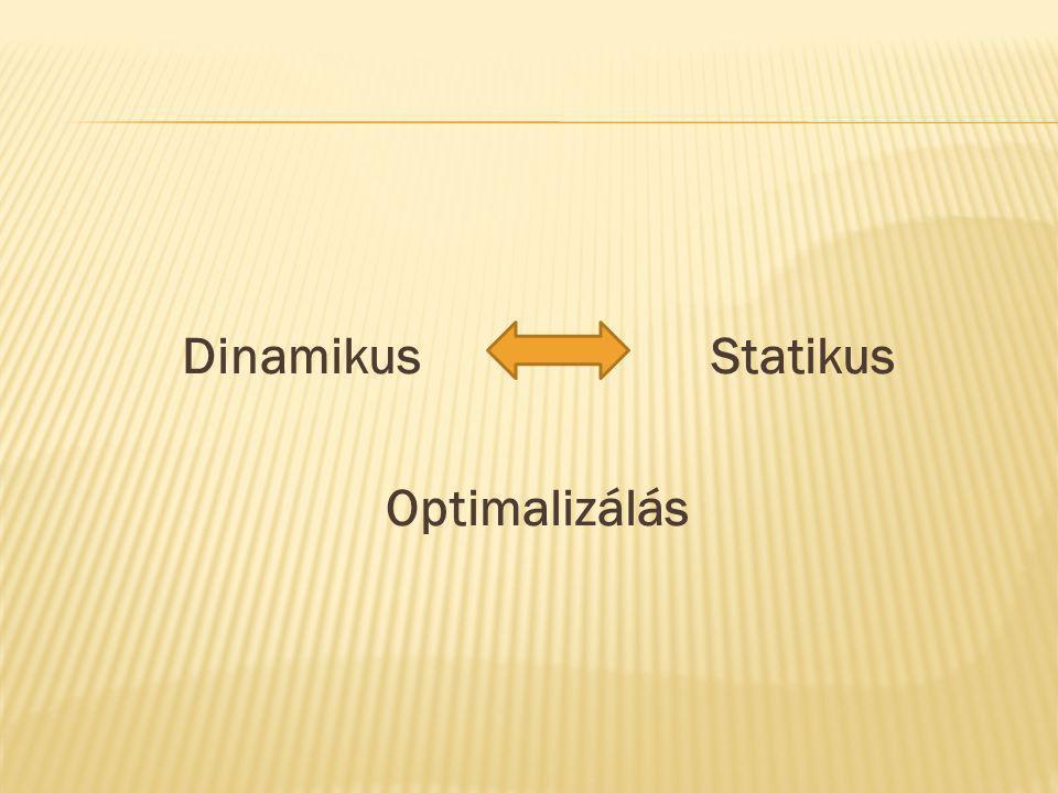 Dinamikus Statikus Optimalizálás