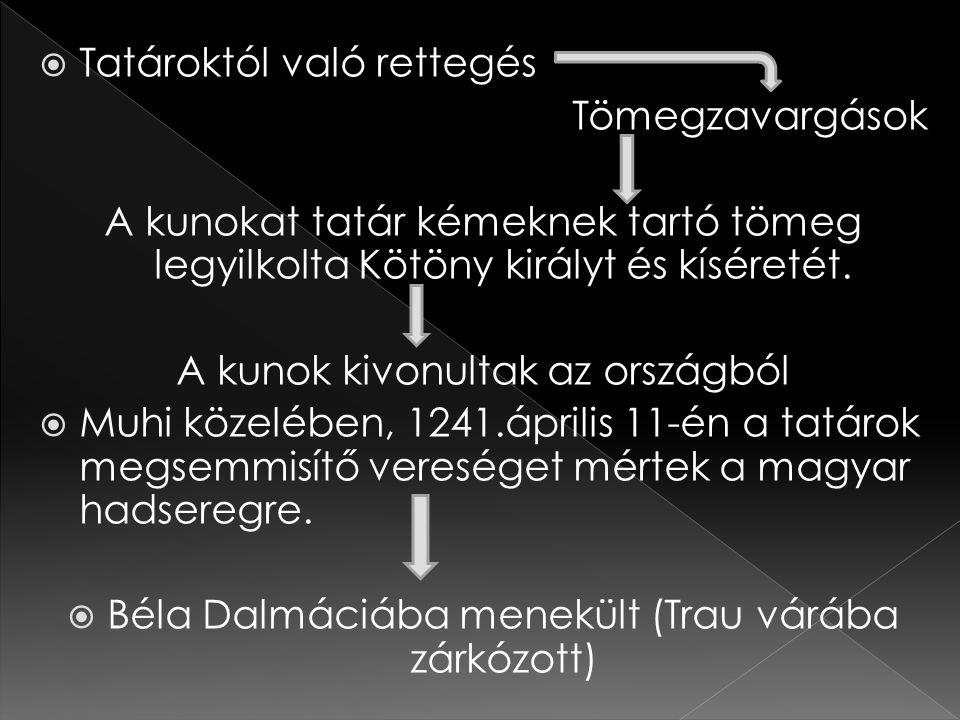 Tatároktól való rettegés Tömegzavargások
