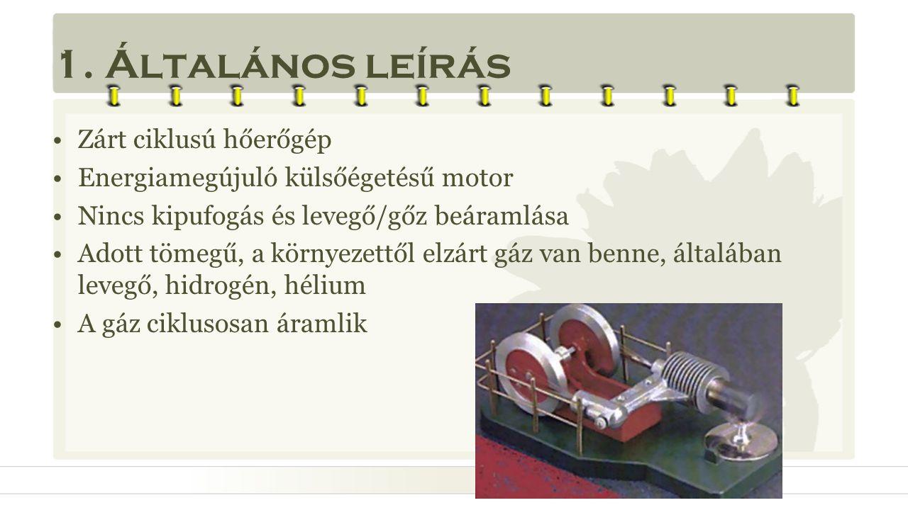 1. Általános leírás Zárt ciklusú hőerőgép