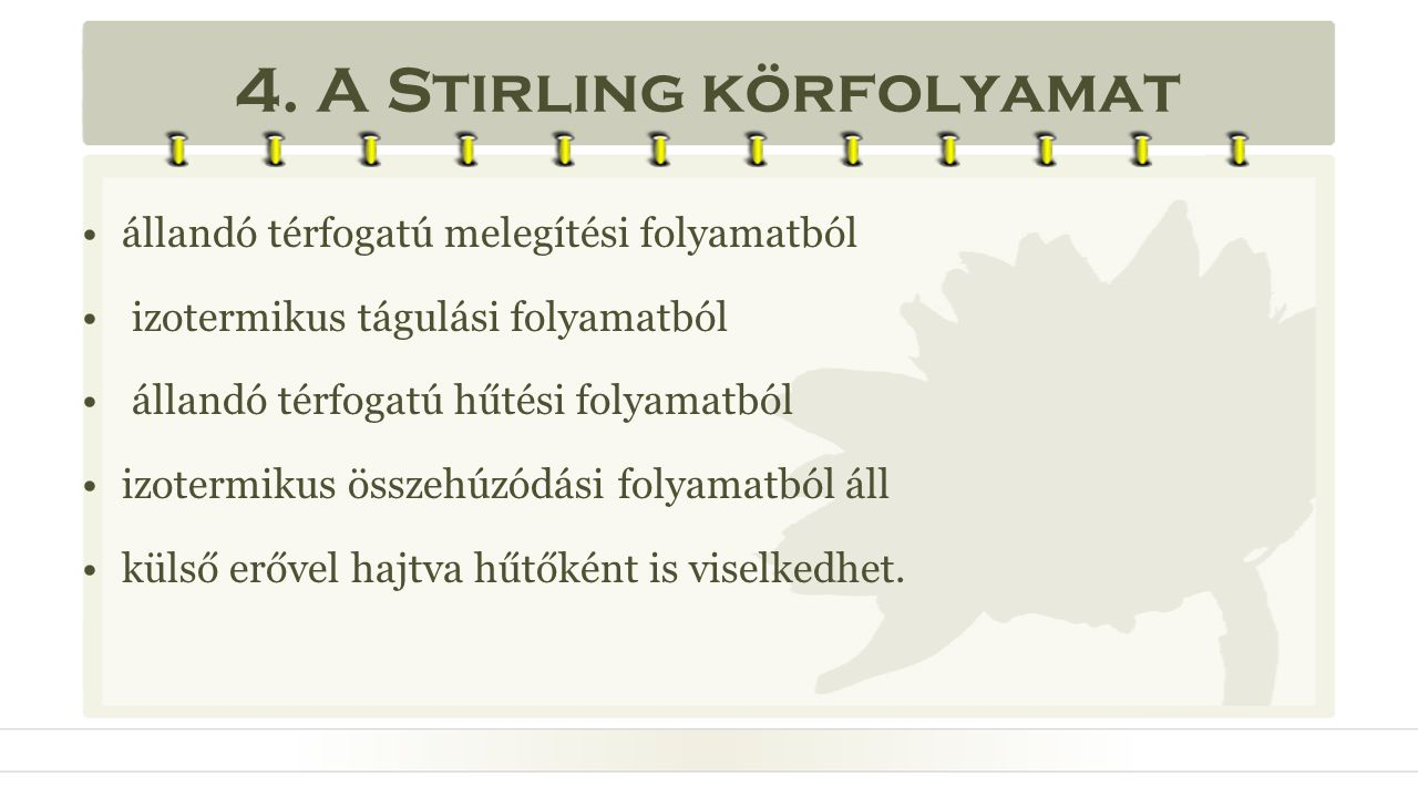 4. A Stirling körfolyamat