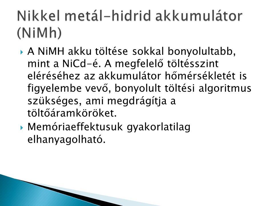 Nikkel metál-hidrid akkumulátor (NiMh)