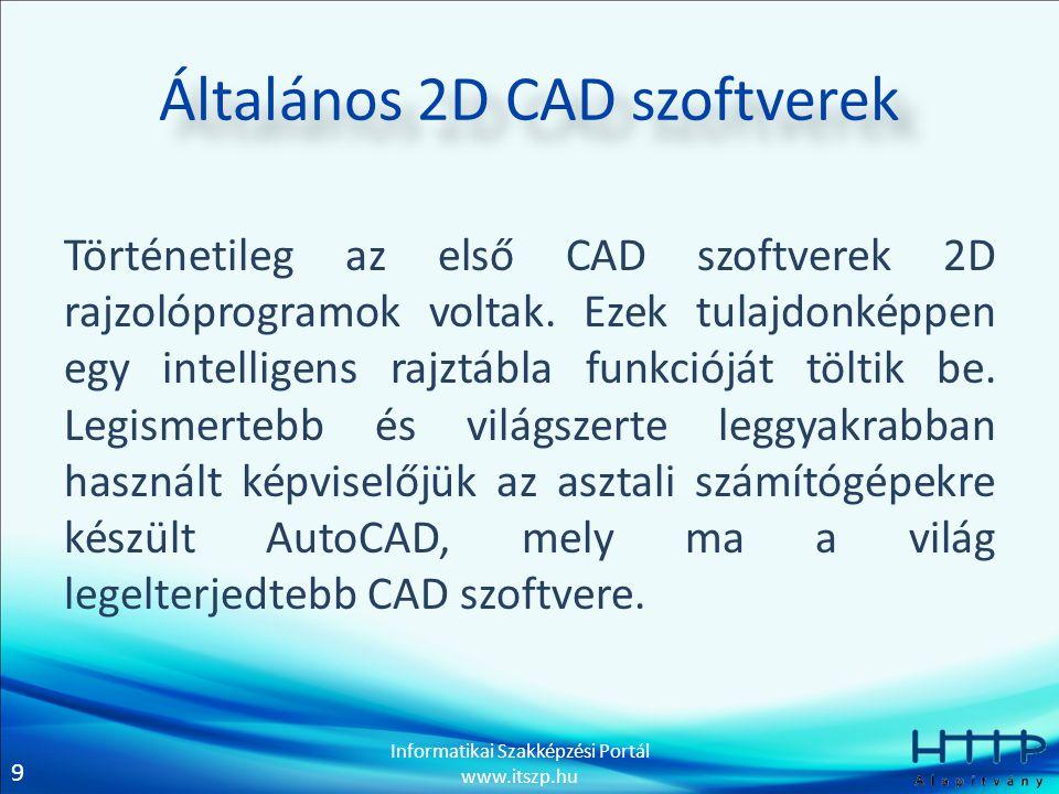 Általános 2D CAD szoftverek
