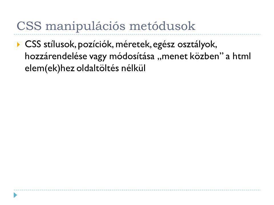 CSS manipulációs metódusok