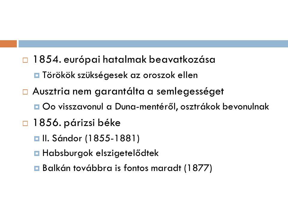 1854. európai hatalmak beavatkozása