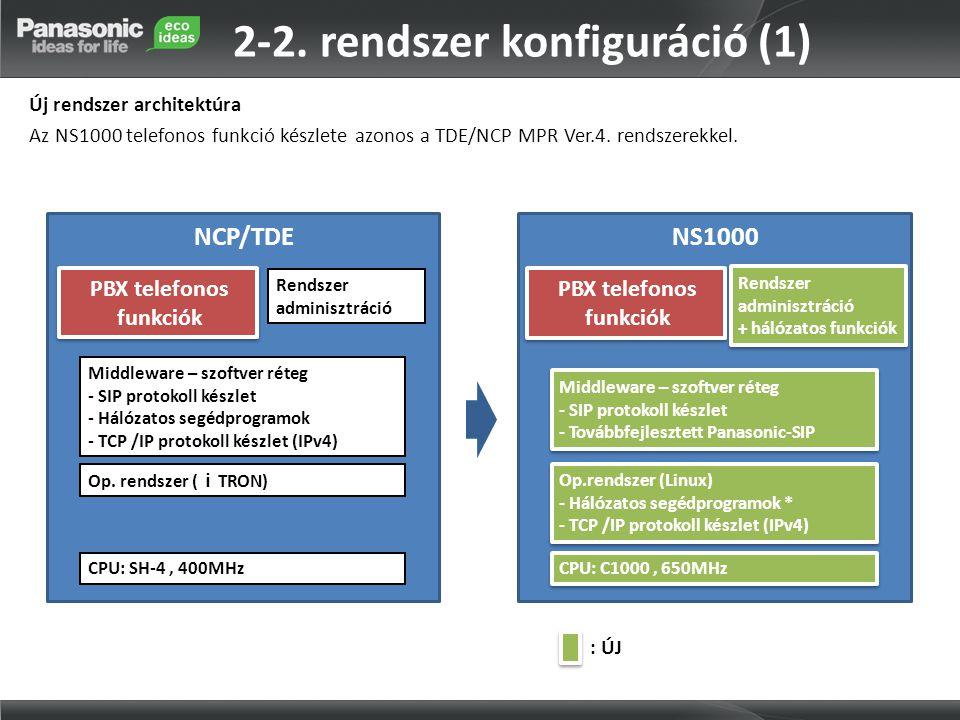 2-2. rendszer konfiguráció (1)