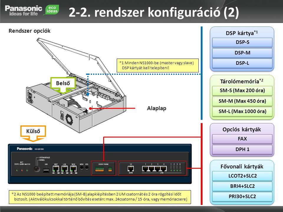 2-2. rendszer konfiguráció (2)