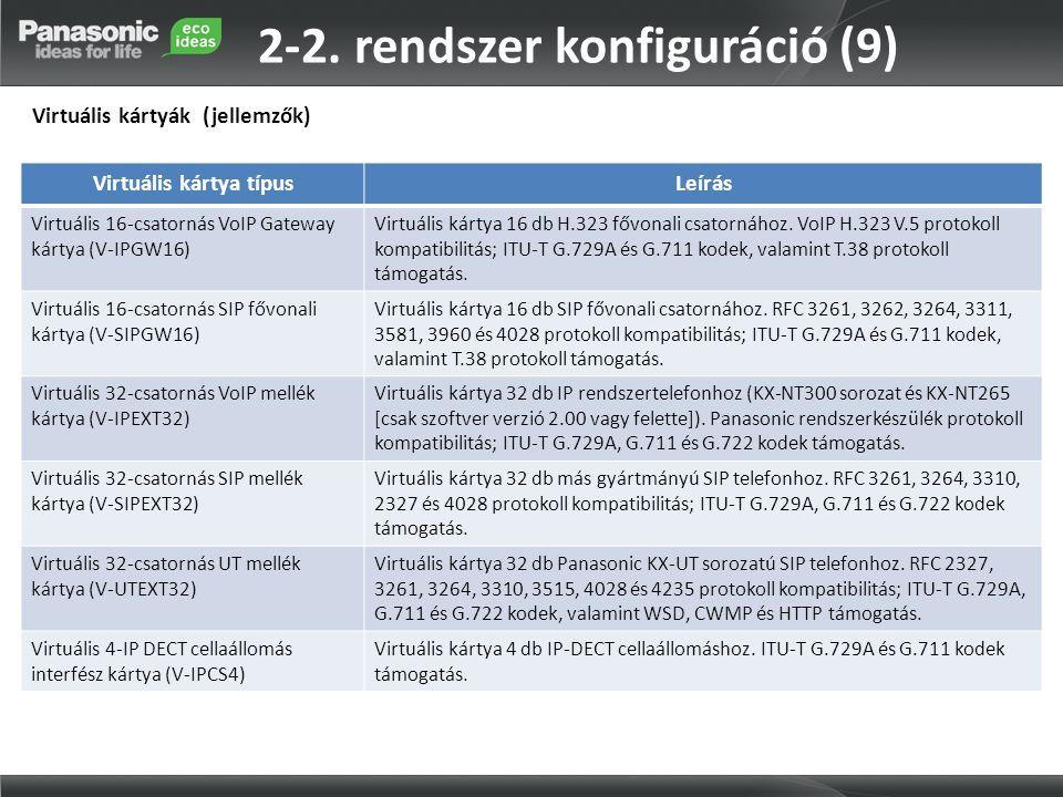 2-2. rendszer konfiguráció (9)