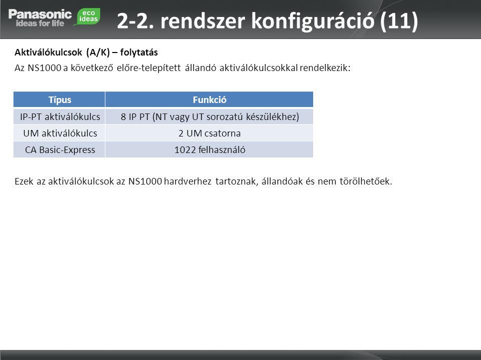 2-2. rendszer konfiguráció (11)